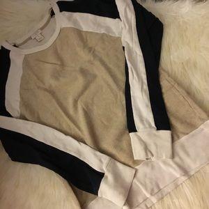 J. Crew Colorblock Sweatshirt